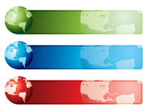 World map banners Stock Images