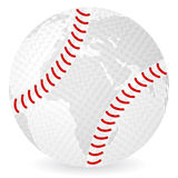 World map baseball ball Stock Images