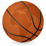 World map basketball ball Stock Photography