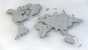 World map with binary numbers as texture Stock Images
