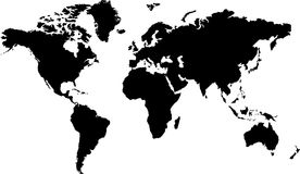 World map black Royalty Free Stock Images