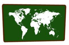 World Map on blackboard Stock Photography