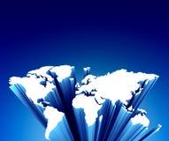 World map on blue. 3D world map on blue background vector illustration