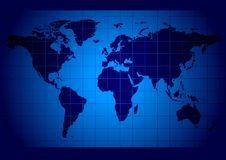 World map blue Stock Photos