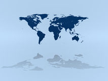 World map on blue Stock Image
