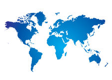 World map blue Royalty Free Stock Photography