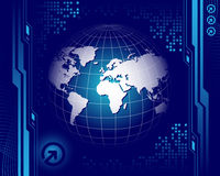 World map on the blue background Stock Photography
