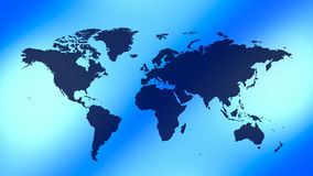 World map blue background stock footage
