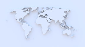World map blue 3D Royalty Free Stock Photos