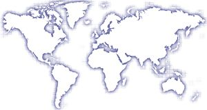 World map blue glow Royalty Free Stock Photography