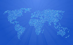 World map on blue Royalty Free Stock Photography