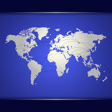 World map of blue networking Stock Image