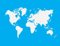 World Map blue sky and white Vector. World Map blue sky and white background Texture Design Stock Photography