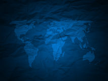 World map blue texture Stock Image