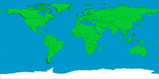 World map with borders Royalty Free Stock Photo
