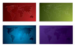 World map business card set Royalty Free Stock Image