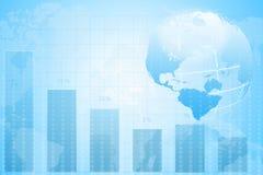 World Map. business chart graph. Stock Photos