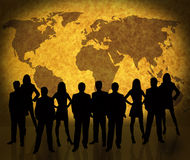 World map and business people Stock Photography