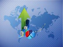 World map business profits illustration. Design background Royalty Free Stock Photography