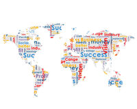 World map with business words Royalty Free Stock Photo