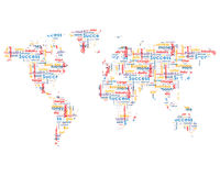 World map with business words. Isolateed on white background Royalty Free Stock Image