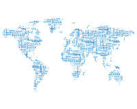 World map with business words. Isolateed on white background Royalty Free Stock Images