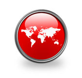 World map button Stock Images
