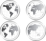 World Map buttons royalty free illustration