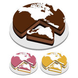 World map Cakes Stock Images