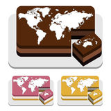 World map Cakes Stock Image
