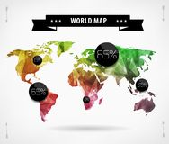World map card Stock Images