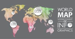 World map card Stock Photography
