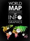 World map card Royalty Free Stock Photo