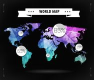 World map card Stock Image