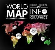 World map card Stock Photos