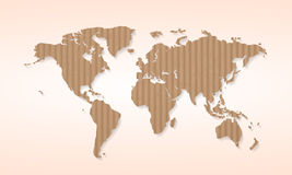 World map cardboard Stock Image