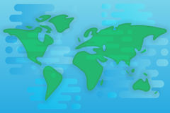 World map cartoon flat illustration Royalty Free Stock Photo