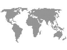 World map circle Stock Photography