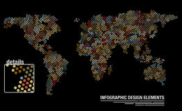 World map from circles Royalty Free Stock Photography
