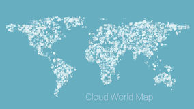 World map from cloud Royalty Free Stock Photography