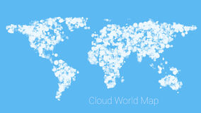 World map from cloud Royalty Free Stock Photos