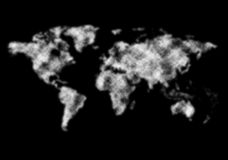 World map from clouds. Stock Photography
