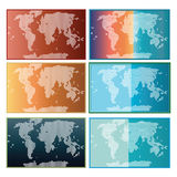World Map Collection Stock Photography