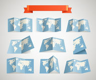 World map collection Stock Images