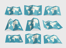 World map collection. Design elements Royalty Free Stock Images