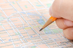 World map and color pencil Royalty Free Stock Photos