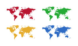 World map , color Stock Photography