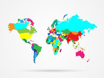 World Map Colorful Stock Photography