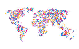 World map of colorful squares Royalty Free Stock Photography