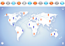World Map Communication Stock Image